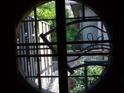 竹細工の小窓 京町家